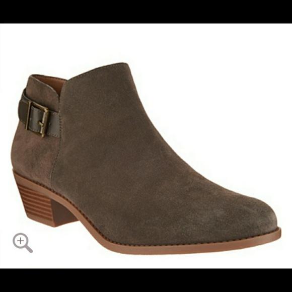 Vionic Shoes   Vionic Suede Ankle Boots